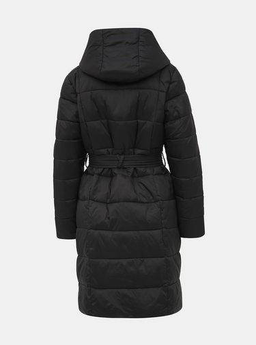 Čierny prešívaný zimný kabát Dorothy Perkins