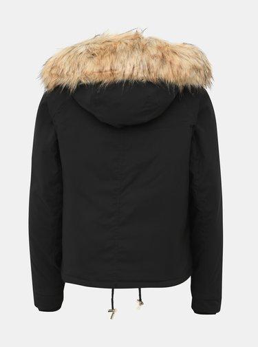 Černá krátká bunda Miss Selfridge