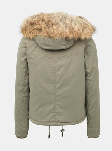 Khaki krátká bunda Miss Selfridge