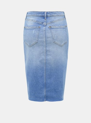 Svetlomodrá rifľová púzdrová sukňa Miss Selfridge