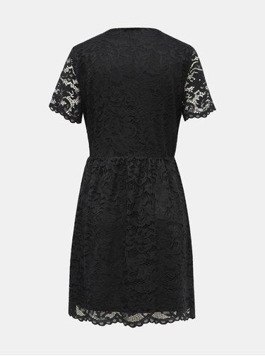 Čierne krajkové šaty VERO MODA Dora