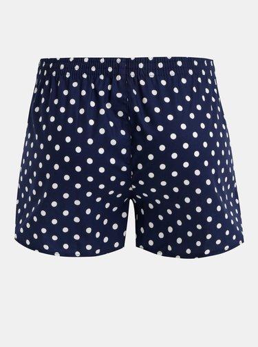 Tmavě modré dámské puntíkované trenýrky El.Ka Underwear