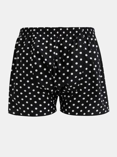 Čierne pánske bodkované trenýrky El.Ka Underwear