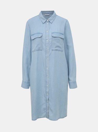 Světle modré šaty VILA Gia