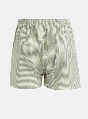 Zelené pánske pruhované trenýrky El.Ka Underwear