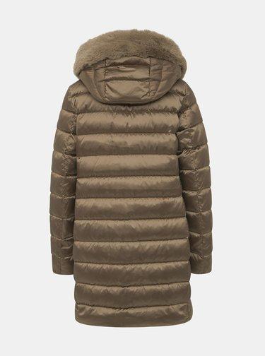 Hnedý prešívaný kabát Geox Chloo