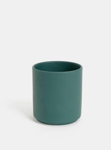 Tmavě zelený porcelánový hrnek Design Ho Ho Ho 300 ml