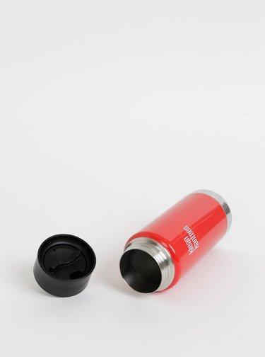 Červený nerezový termohrnek Klean Kanteen 473 ml