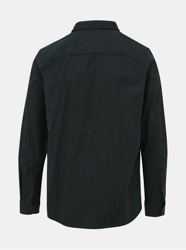 Tmavozelená kockovaná comfort fit košeľa Jack & Jones Rivan
