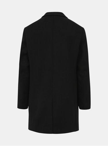 Černý kabát s příměsí vlny Jack & Jones Moulder