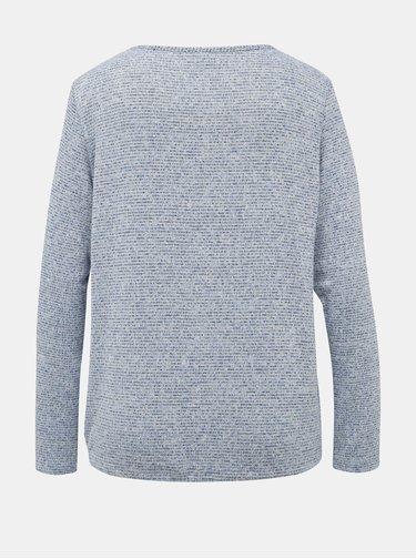 Svetlomodrý dámsky žíhaný ľahký sveter Tom Tailor