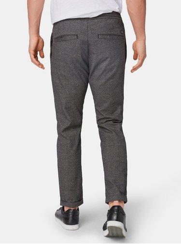 Šedé pánske vzorované nohavice Tom Tailor Denim