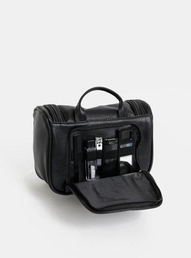 Čierna kozmetická cestovná taška Portland