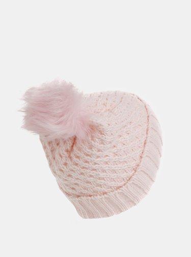 Růžová čepice s bambulí Roxy Blizzard Beanie