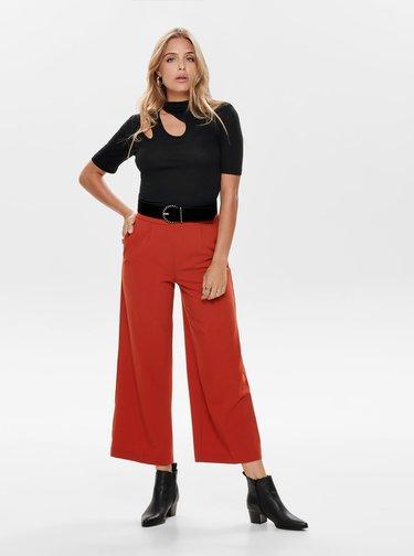 Cihlové zkrácené kalhoty ONLY Roma