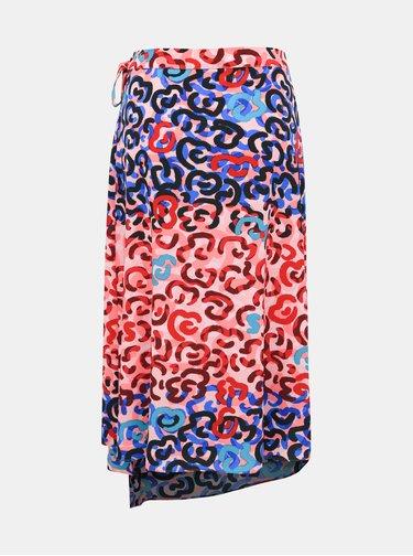 Modro-ružová vzorovaná sukňa M&Co