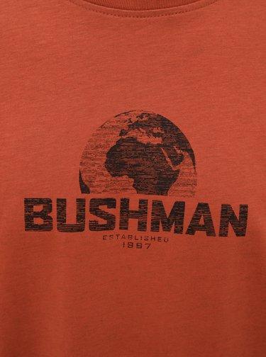 Oranžové pánské tričko s potiskem BUSHMAN Groton