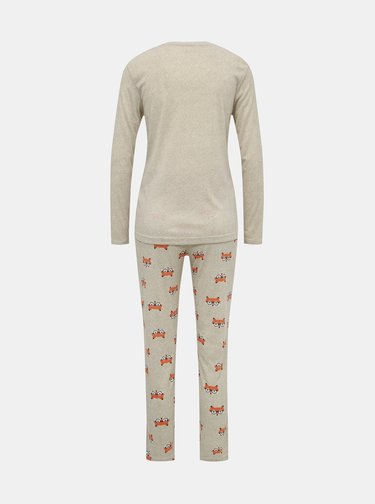 Béžové vzorované dvojdielne pyžamo M&Co