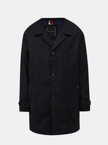 Tmavě modrý pánský voděodolný kabát s odnímatelným límcem Tommy Hilfiger