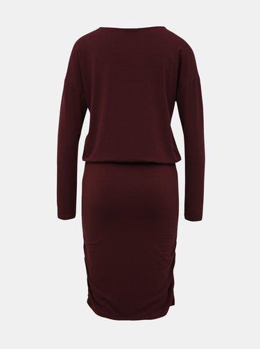 Vínové pouzdrové šaty VILA Nico