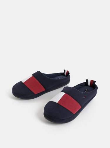Tmavě modré pánské papuče Tommy Hilfiger