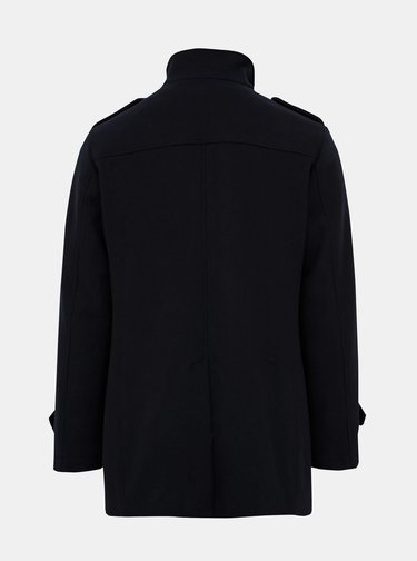Tmavomodrý vlnený kabát Selected Homme Covent