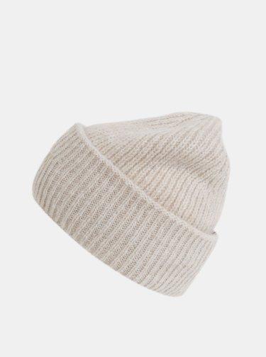 Béžová dámska čapica s prímesou vlny Tommy Hilfiger Effortless