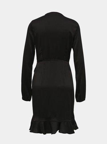 Čierne zavinovacie šaty VERO MODA Henna