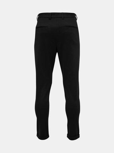Čierne skrátené chino nohavice Lindbergh
