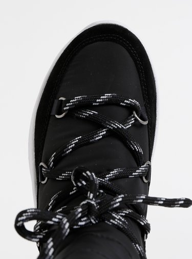 Čierne dámske snehule so semišovými detailmi Tommy Hilfiger Hybrid