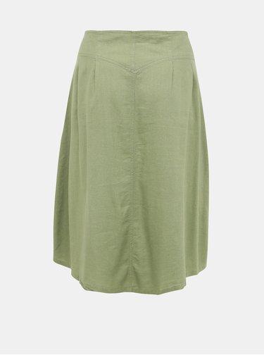 Světle zelená midi sukně ONLY CARMAKOMA Palm