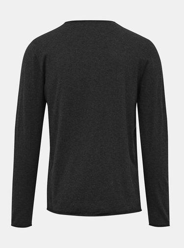 Tricouri basic pentru barbati Selected Homme - gri inchis