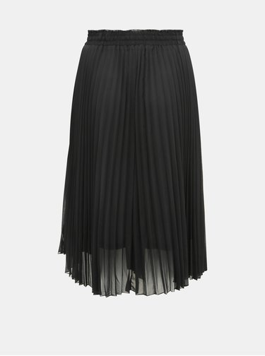 Čierna plisovaná midi sukňa ONLY CARMAKOMA Sarah
