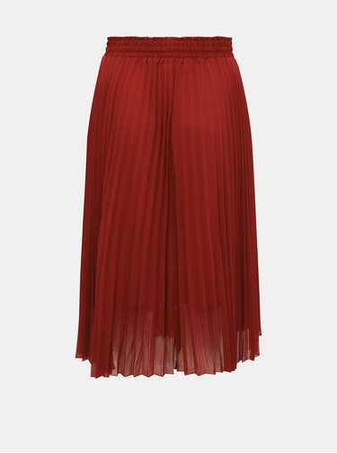 Vínová plisovaná midi sukňa ONLY CARMAKOMA Sarah