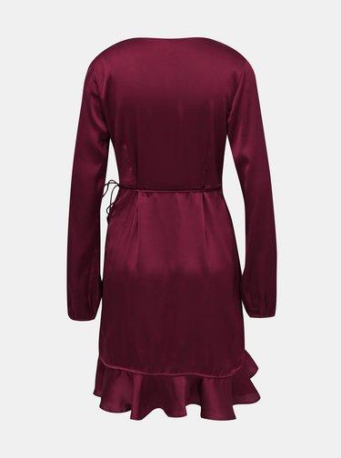 Vínové zavinovací šaty VERO MODA Henna