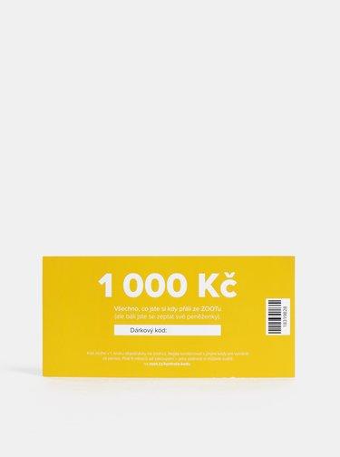 Vánoční dárkový poukaz na ZOOT v hodnotě 1 000 Kč
