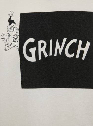 Biele tričko s potlačou Jack & Jones Grinch