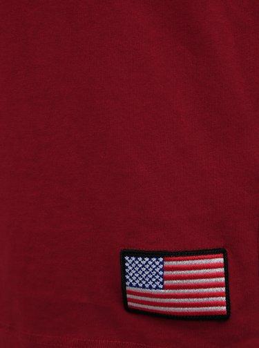 Červené tričko s potlačou Jack & Jones Berkan NASA