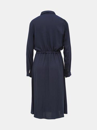 Tmavě modré košilové midišaty VILA Saxa