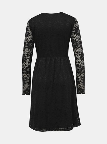 Čierne krajkové šaty VILA Kaisa