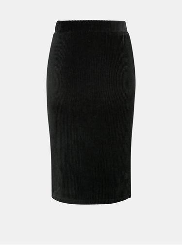 Čierna menčestrová púzdrová sukňa ONLY Cosy