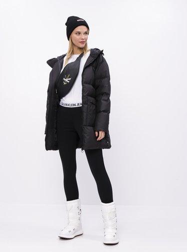 Čierny dámsky páperový zimný kabát Puma