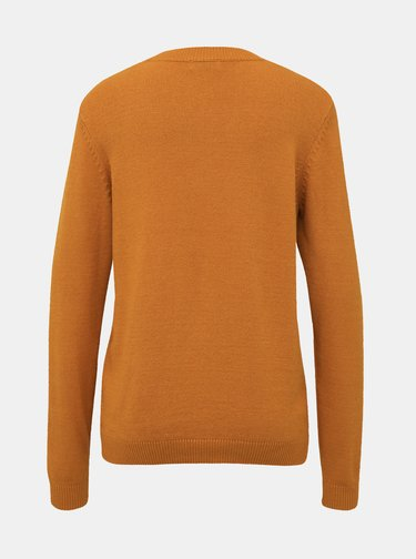 Horčicový basic sveter Jacqueline de Yong Marco