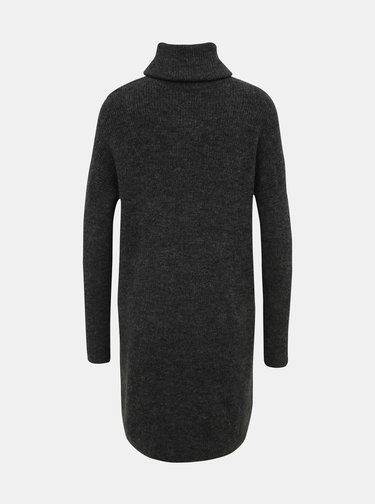 Tmavošedé svetrové šaty ONLY Jana