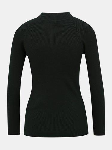 Tmavě zelený svetr Jacqueline de Yong Plum