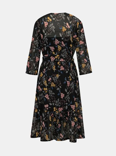 Čierne kvetované šaty Jacqueline de Yong Emillia