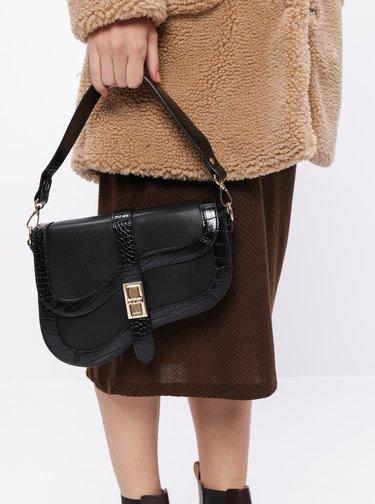 Čierna crossbody kabelka s krokodýlím vzorom Dorothy Perkins