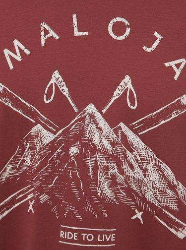 Hnedé pánske tričko s potlačou Maloja Luregn