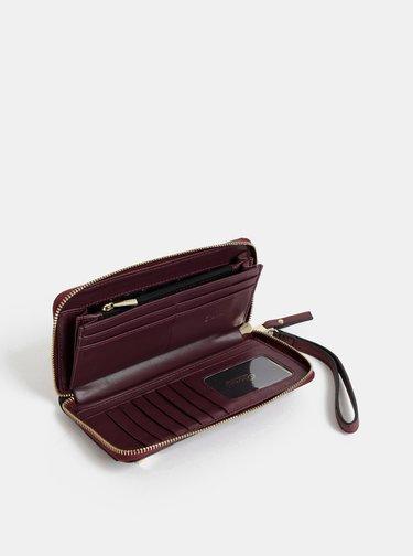 Vínová peněženka s hadím vzorem Gionni