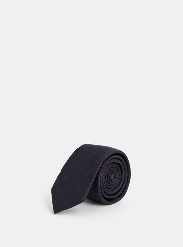 Tmavě modrá puntíkovaná kravata Selected Homme Martin